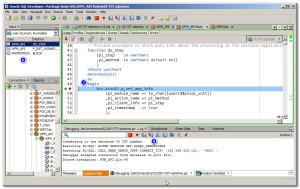 Debugging PL/SQL in SQL/Developer